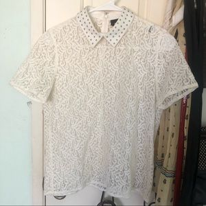 The Kooples Sheer Lace Blouse